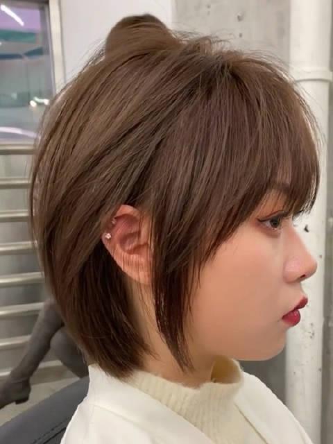 韩式风格短发、甜美可爱风格女生剪一次爱一次短发