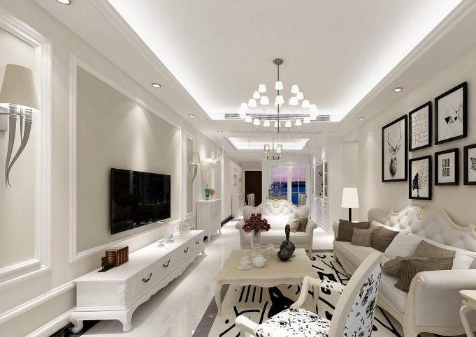 客厅电视背景墙不要再装大理石了,聪明人都流行用石膏线装饰