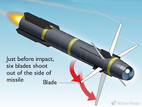 AGM-114R9X导弹为常规地狱火的变体