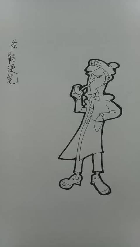 当代国画家徐鹤极简中国风治愈系漫笔人物插画