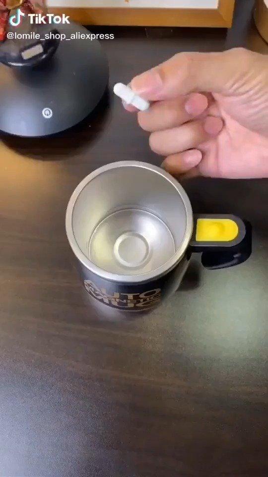 自带磁力搅拌的咖啡杯
