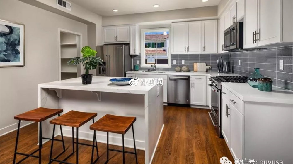 【安纳海姆房产】美国南加州橙县Anaheim市2卧联排新房户型简介