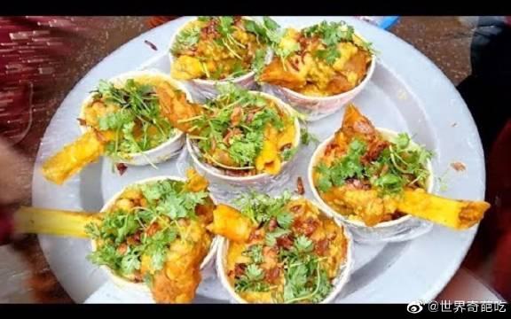 孟加拉街头小吃,斋月节的素食小吃和水果,非常的好吃!