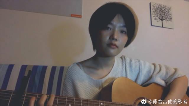 有可能的夜晚小段副歌,吉他弹唱cover曾轶可,节奏感很强的一首歌