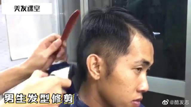 男生发型修剪,剪一个型男发型,其实一把推剪就够了!