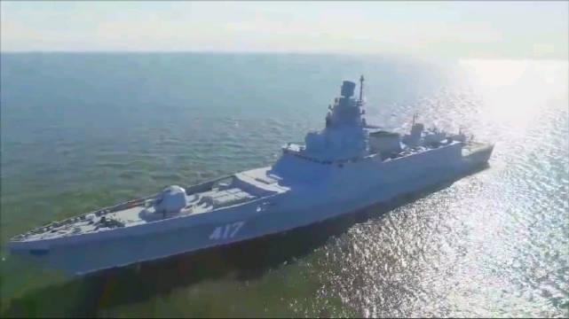 """访问古巴的""""戈尔什科夫海军元帅""""号护卫舰宣传片 护卫舰愣是拍出巡"""
