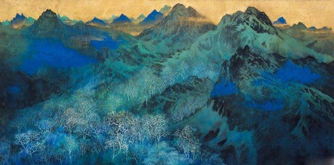 著名艺术家、清华大学美术学院教授 袁运甫 先生绘画作品一组。