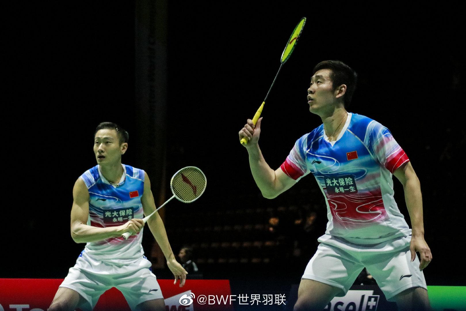男双第二轮 刘成/张楠(中国)21-14 21-13  阿琼/斯洛克(印度)