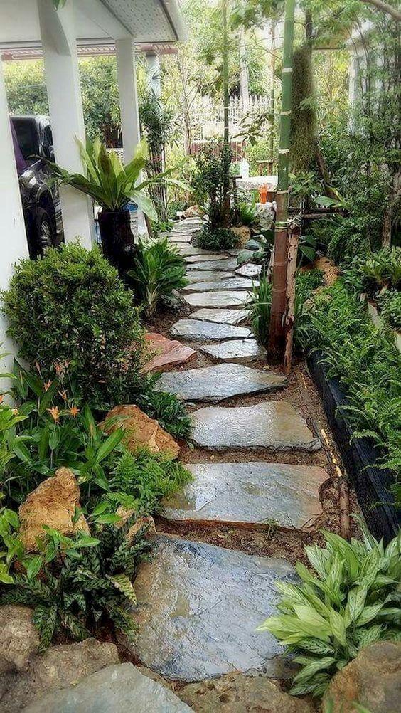 庭院汀步设计参考图片