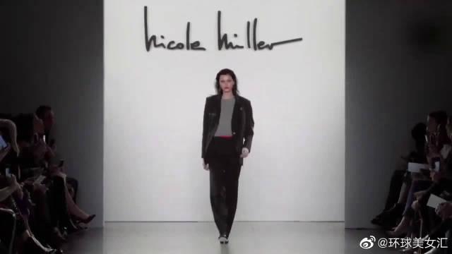 妮可·米勒2019弗兰克-威廉姆斯时装秀,太有感觉了