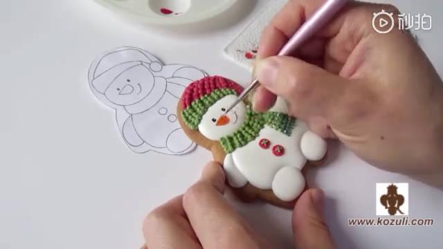 圣诞糖霜饼干,创意饼干,一看就会,一看就爱上!