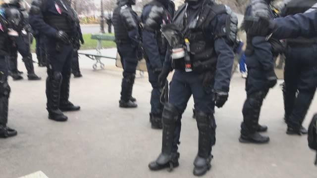 """法国消防员举行示威游行,只为趁""""反退休制度改革""""热点"""