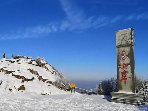 江苏省东部连云港花果山风景区的玉女峰雪景[玫瑰]