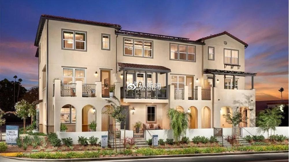 【拉哈布拉房产】美国南加州橙县La Habra市3卧联排新房户型简介
