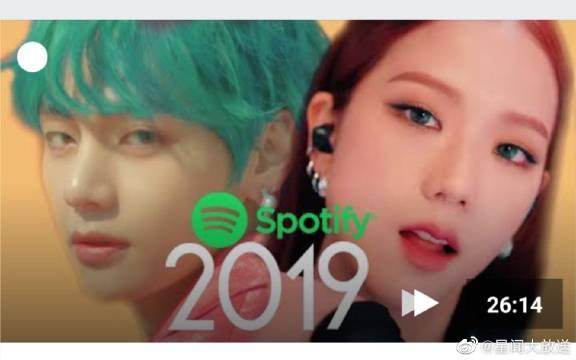 前三名流媒体破亿断层!2019年Spotify上最受欢迎的KPOP歌曲是