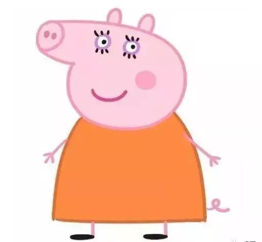 可以参照猪爸爸的画法,不过乔治是缩小版的哦,是不是很可爱?