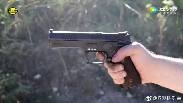崭新的半自动手枪靶场射击测试,采用9mm口径弹药供弹,可靠性极高