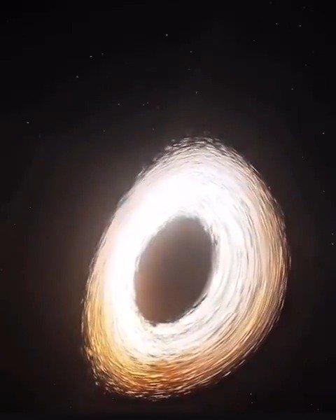 黑洞太可怕了,它强大的引力能弯曲时间和空间!!!