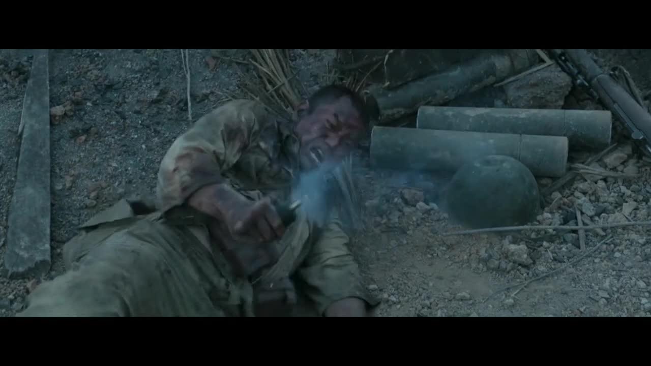 《血战钢锯岭》残酷的战争场面,看得真是惊心动魄。