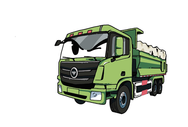 福田汽车出品,这漫画图有点意思!