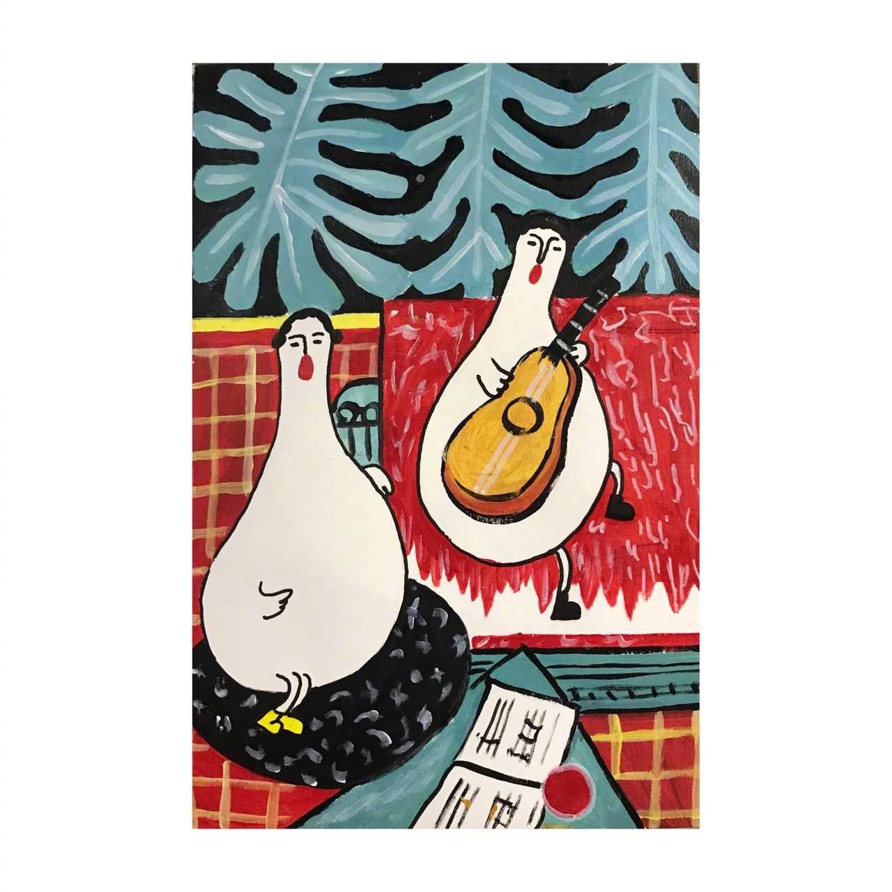 这种风格你们喜欢吗:铜锣湾的肥天鹅 ——(今日插画)