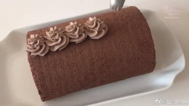 车厘子巧克力蛋糕卷,你实现车厘子自由了吗?