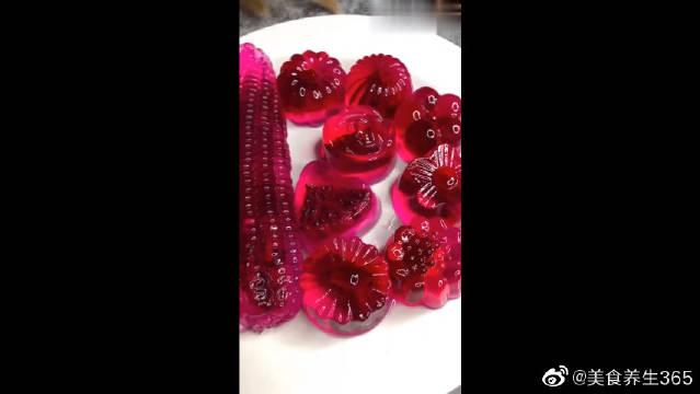 高颜值的火龙果果冻各种样子的都有