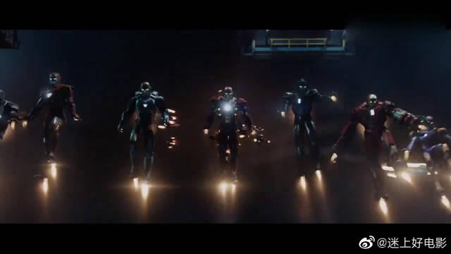 钢铁侠战甲派对,各种型号各种功能战甲,至少有几十个!