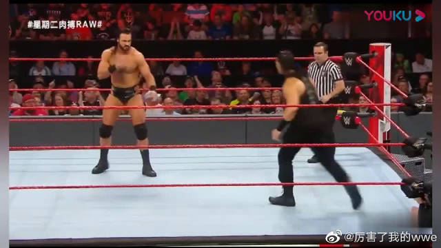 RAW:高质量单打!罗门伦斯VS麦金泰尔,观众的反应说明了一切!
