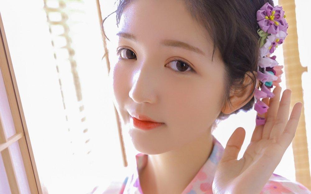日本和服花姑娘清纯可爱小清新写真集