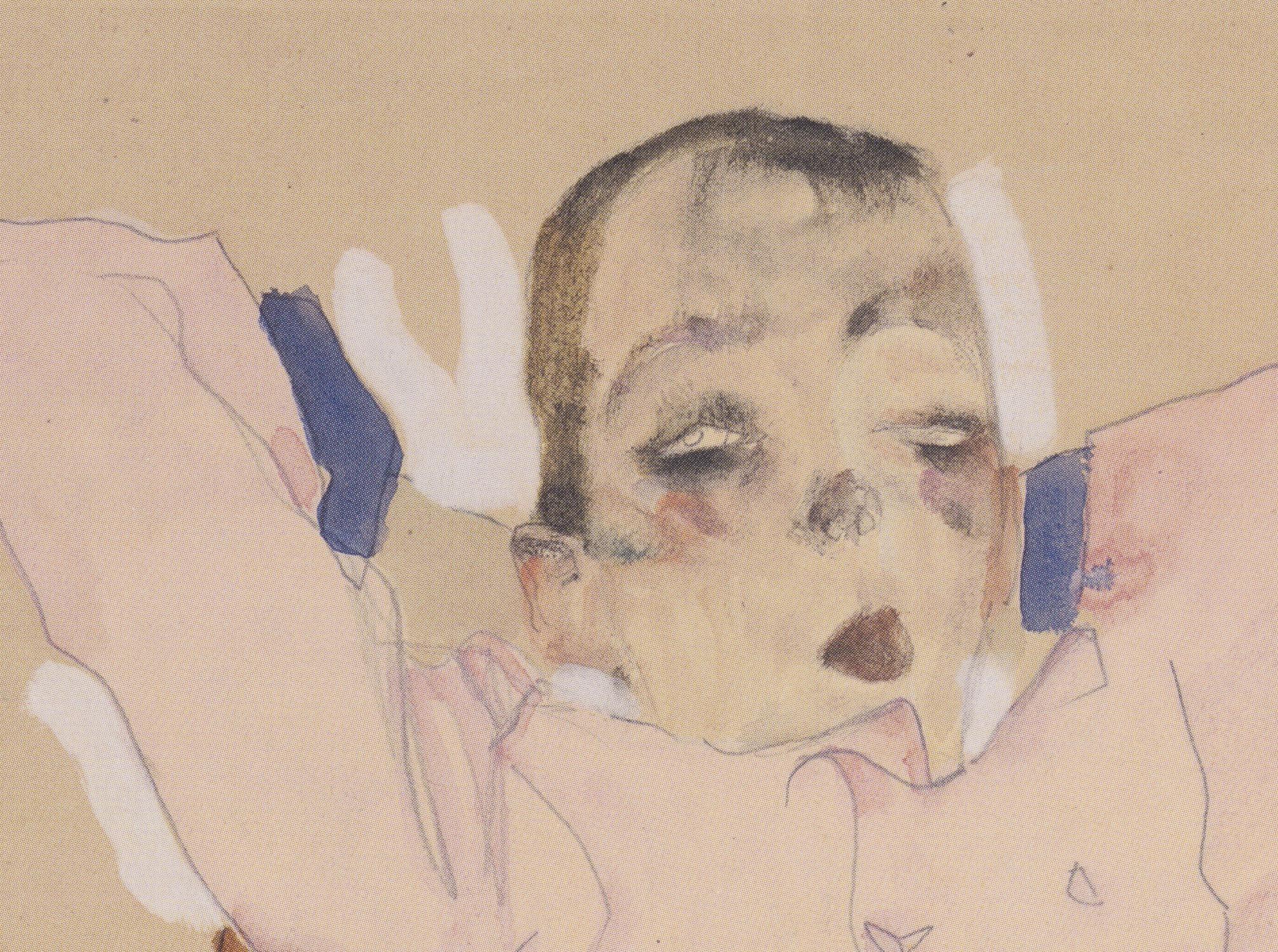 席勒画中形态各异人物的神情