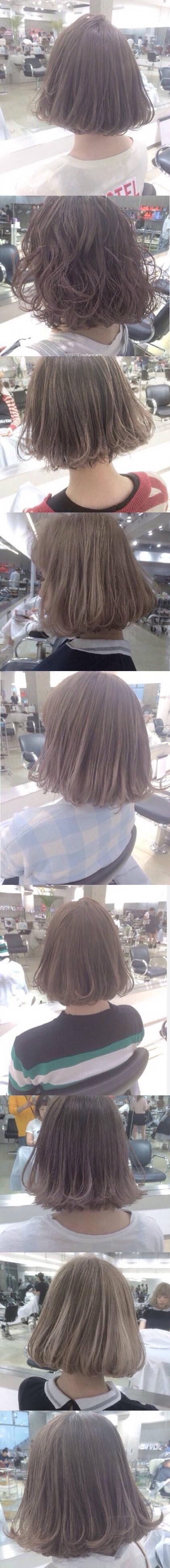 想剪这样的长度,烫一下,是不是染个色比较好?(**)