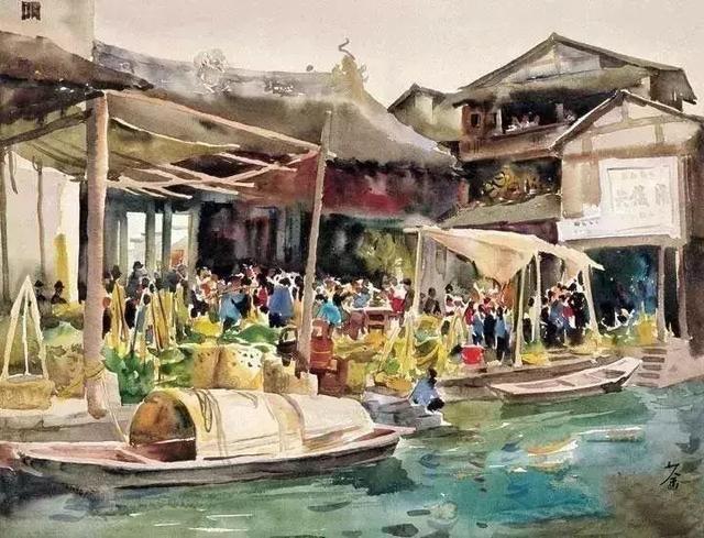 吴冠中早期的水彩画,真好