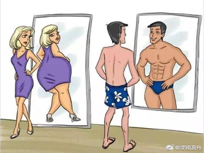 人在照镜子的时候,会有些许的变化,那是因为在照镜子的时候
