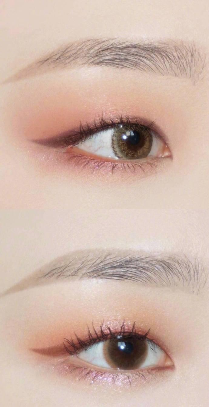 单眼皮妹子来学一下这些眼影和眼线的画法吧。