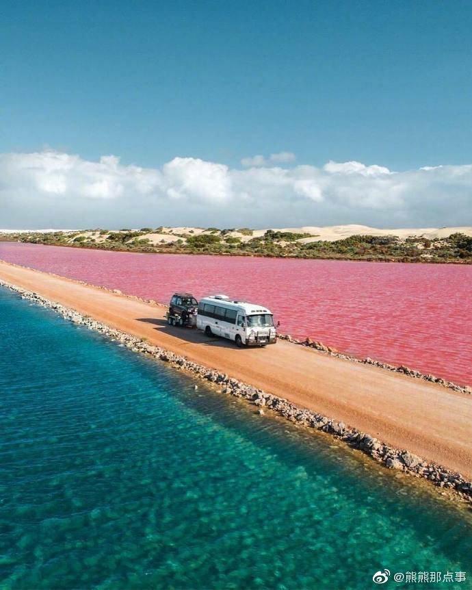 位于澳大利亚的麦克唐纳湖,大自然的天然调色盘