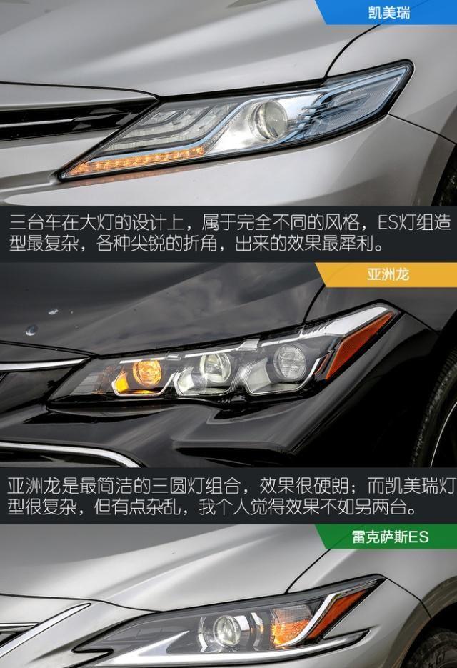 难分难解 对比亚洲龙双擎/凯美瑞双擎/ES200