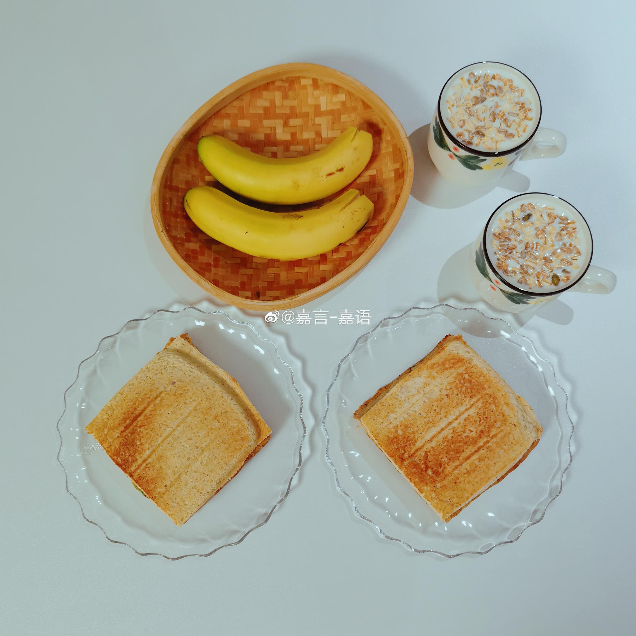 早,下雨的军训日,昨天约好的三明治