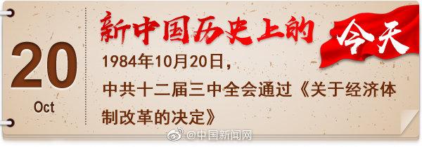 1984年10月20日 中共十二届三中全会通过《关于经济体制改革的决定》