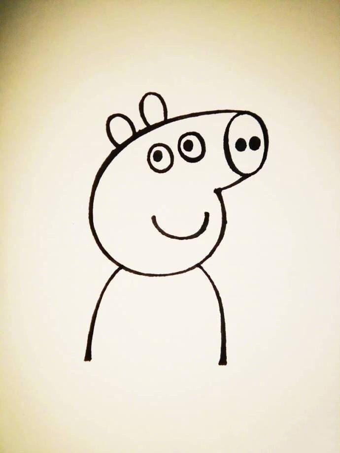 小猪佩奇简笔画教程,简单又可爱,码住学起来