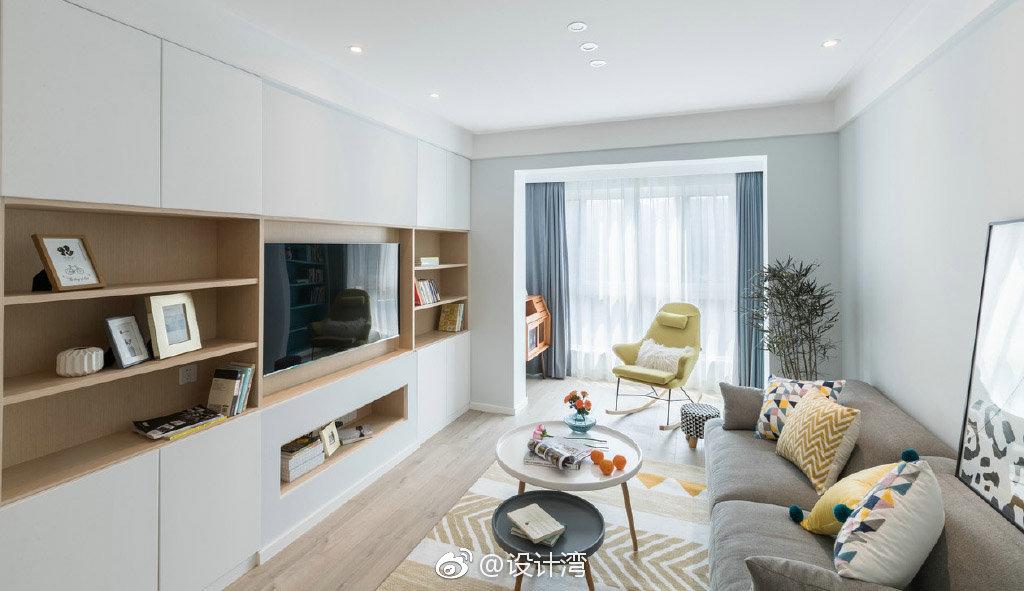 清新北欧风格三居室装修,去繁从简的现代设计语言,漂亮实用图片