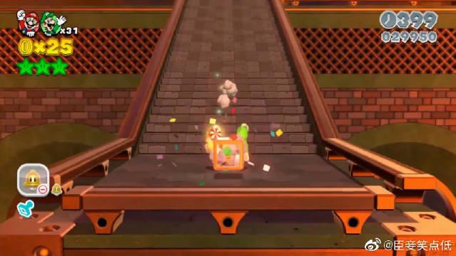 超级马里奥3D世界:通关的搞笑视频,第一关