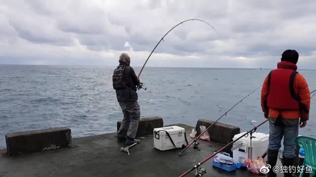 白发老伯中鱼,这鱼的力气真大,溜鱼感觉有点吃力了