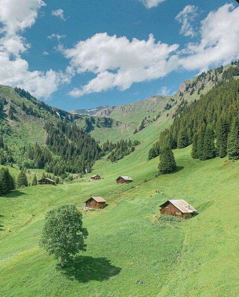 瑞士的美,怎么拍怎么有。
