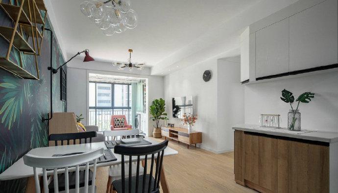 90㎡清新简约混搭  三居室,太喜欢沙发墙的设计了,时尚个性!