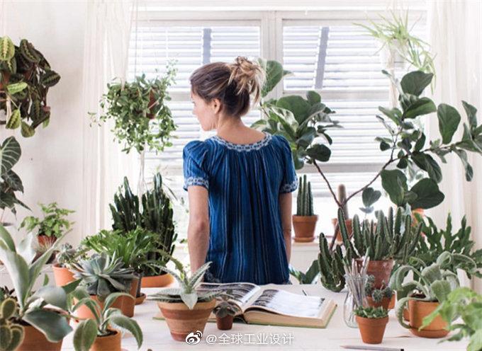 """美国女插画师把家变成了""""植物园"""",每天从花草中醒来"""
