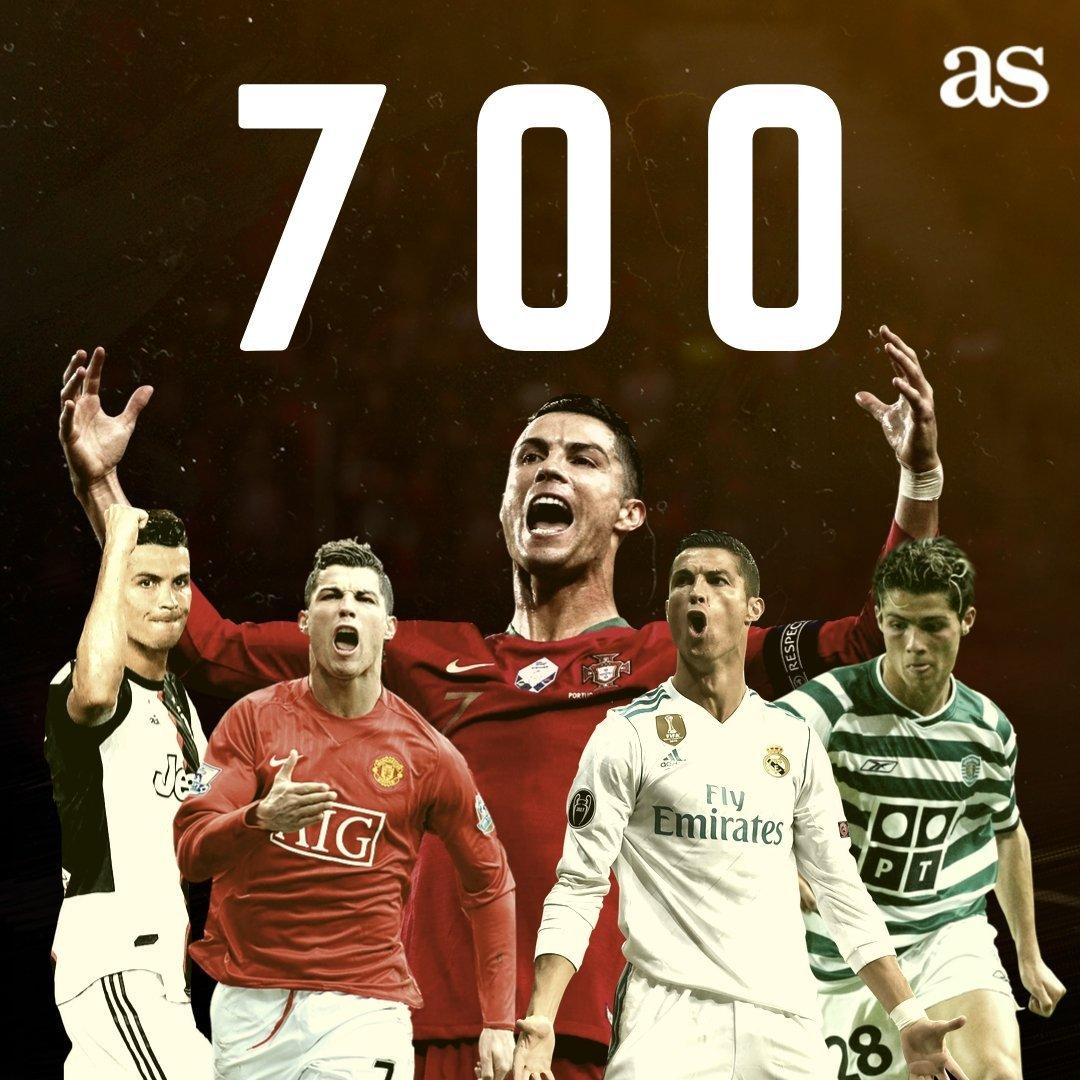 克里斯蒂亚诺罗纳尔多!!!职业生涯700球