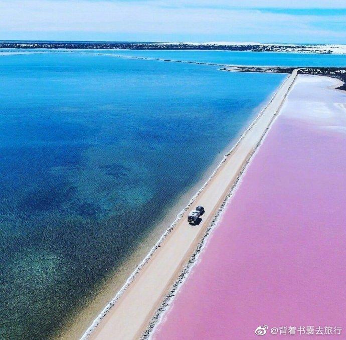 麦克唐纳尔湖,像切开的彩虹蛋糕。