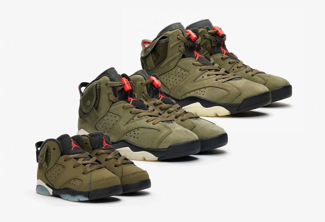 今早九点就将全尺码发售的大热鞋款Travis Scott x Air Jordan 6