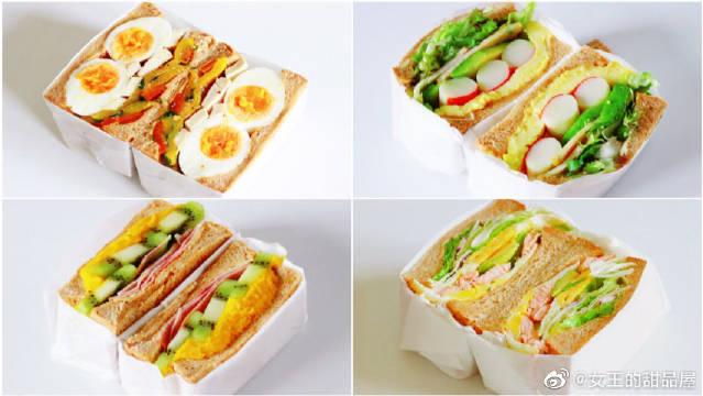 超有料儿的四款巨无霸三明治,早餐吃出新花样